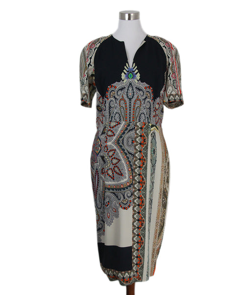 Etro grey black red dress 1
