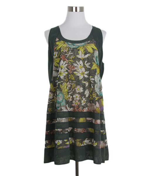 Etro Grey Yellow Floral Silk Top 1