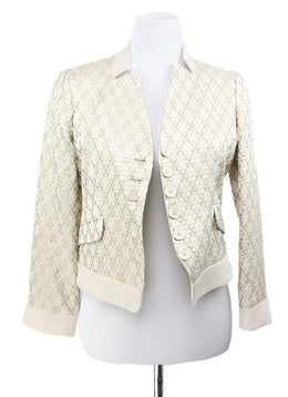 Etro Beige Gold Wool Silk Jacket 1