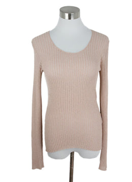Etro Pink Nylon Gold Lurex Top 1