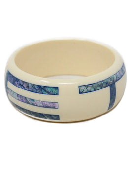 Bracelet Etro Neutral Cream Blue Mother Of Pearl Jewelry 2