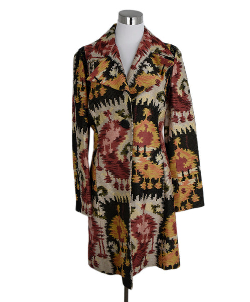 Etro Neutral Rust Black Multi Viscose Coat 1
