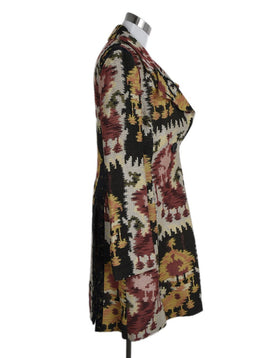 Etro Neutral Rust Black Multi Viscose Coat 2