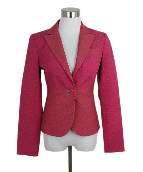 Etro pink print cotton jacket 1