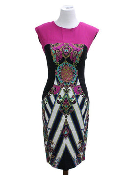 Etro Purple Black Viscose Dress sz 6