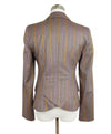 Etro Purple Lilac Orange Stripes Wool Jacket 3