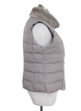 Fabiana Filippi Grey Vest with Mink Trim 2