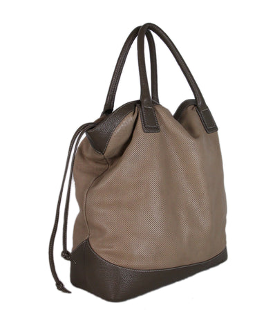 Fabiana Filippi Tan Leather Taupe Tote 1