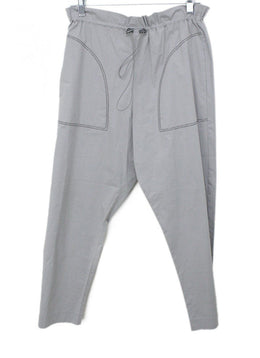 Fabiana Filippi Grey Cotton Metal Trim Drawstring Pants
