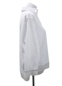 Fabiana Filippi White Cotton Blouse 1