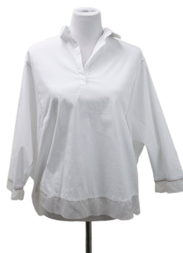 Fabiana Filippi White Cotton Blouse