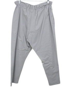 Fabiana Filippi Grey Cotton Metal Trim Drawstring Pants 1