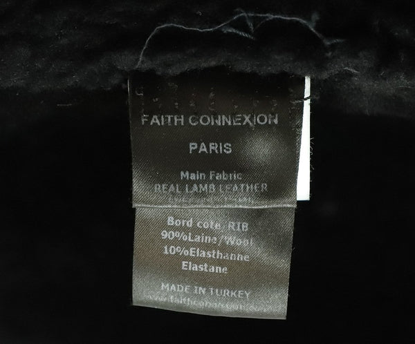 Faith Connexion Black Shearling Leather Jacket 4