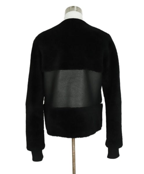 Faith Connexion Black Shearling Leather Jacket 3
