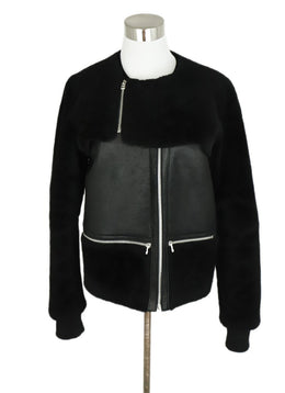 Faith Connexion Black Shearling Leather Jacket 1