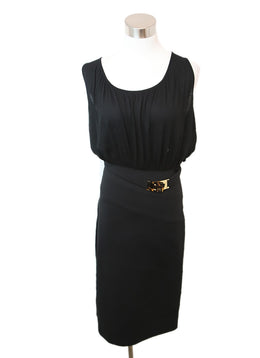 Fendi Black Cotton Spandex Dress 1