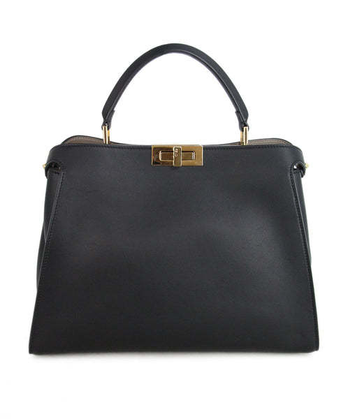 Fendi Black Leather Satchel 1
