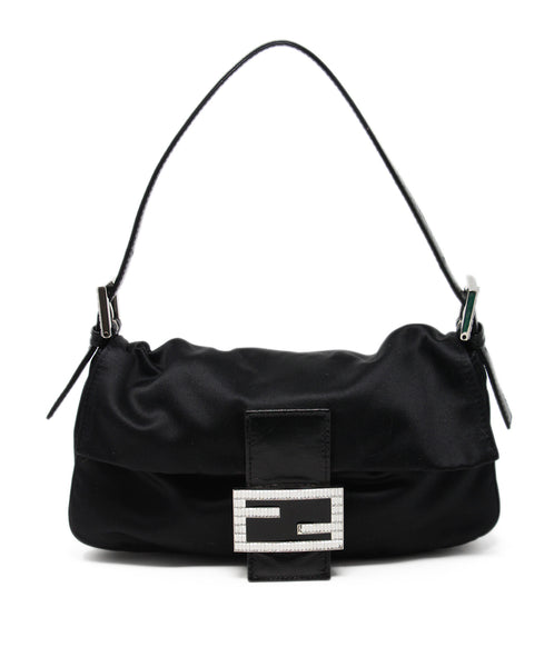 Fendi Black Satin Handbag 1