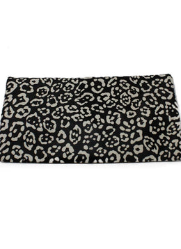 Fendi Black White Calfhair Clutch 1