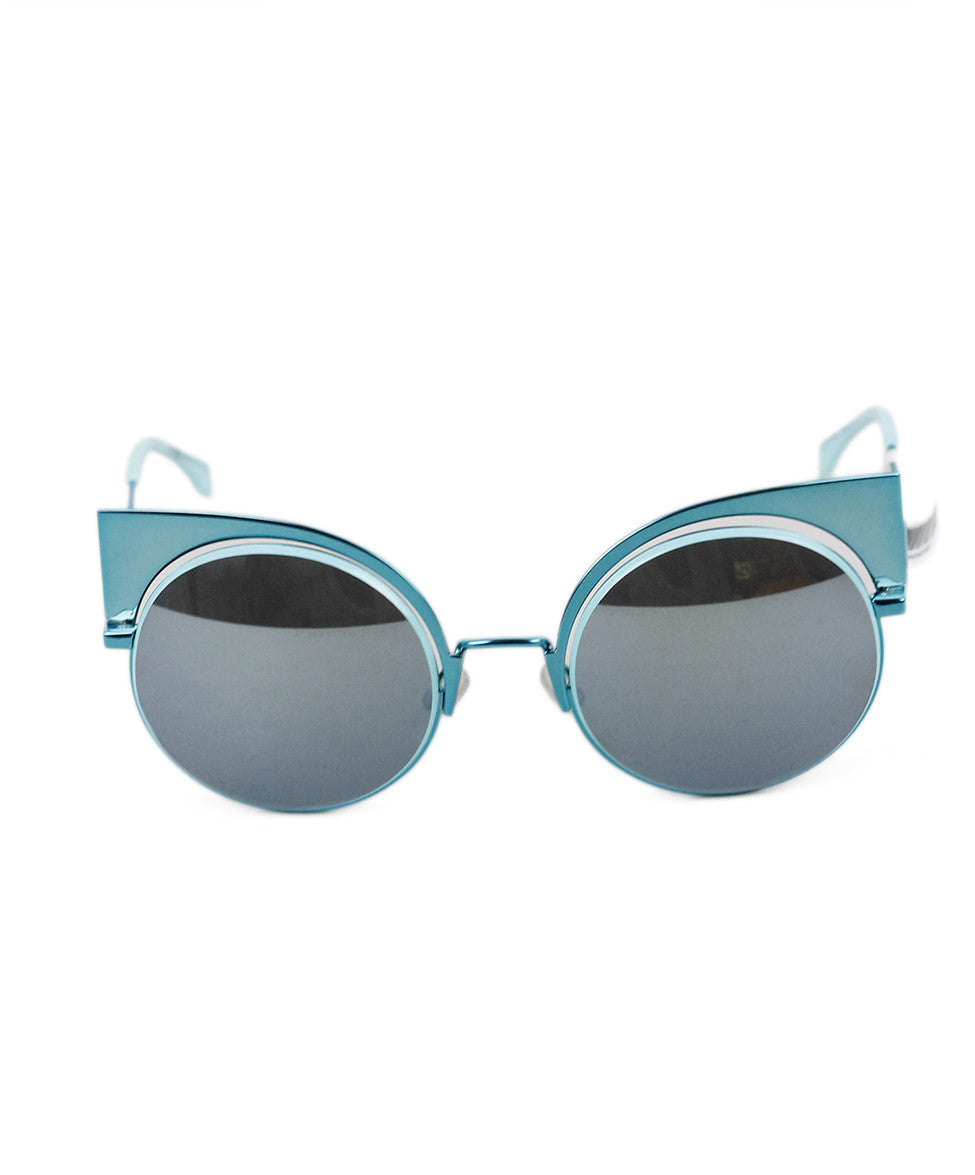 "Fendi  Turquoise Metal  ""Eyeshine"" Sunglasses"