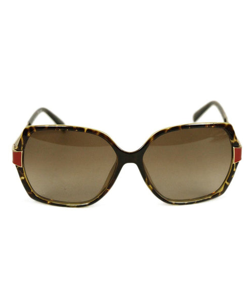 Fendi Brown Tortoise Red Sunglasses 1
