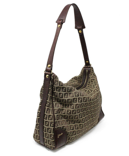 Fendi Brown Monogram Canvas Hobo Bag 2
