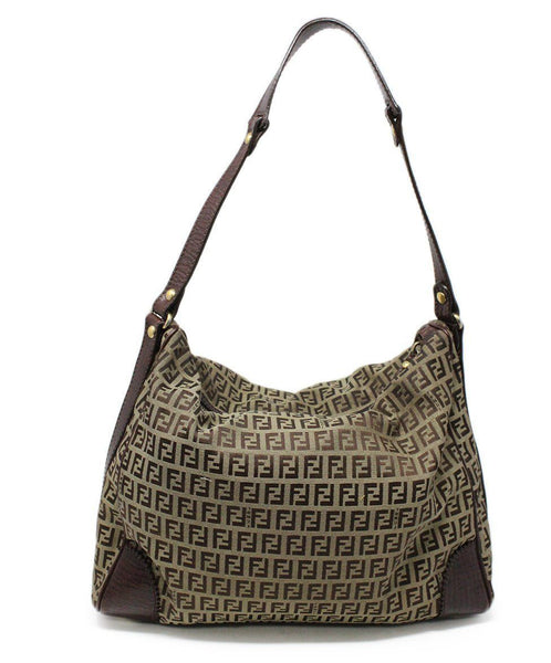 Fendi Brown Monogram Canvas Hobo Bag 3