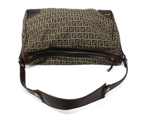 Fendi Brown Monogram Canvas Hobo Bag 5