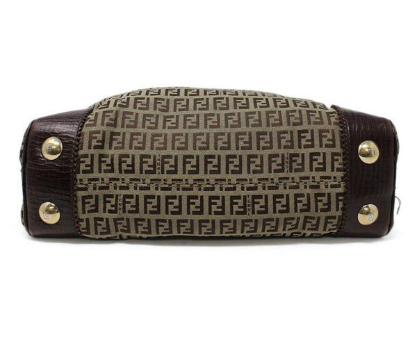 Fendi Brown Monogram Canvas Hobo Bag 4