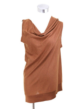 Fendi  Brown Cashmere Silk Top