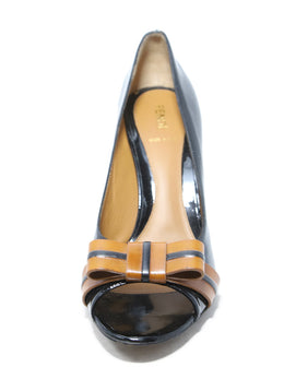 Fendi Black and Brown Heels 1