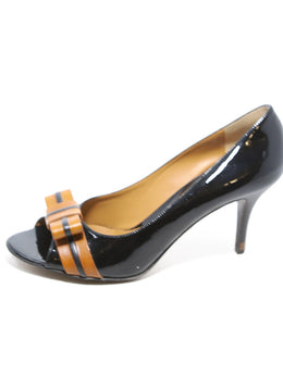 Fendi Black and Brown Heels 2