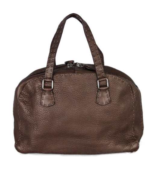Fendi Metallic Brown leather satchel 1