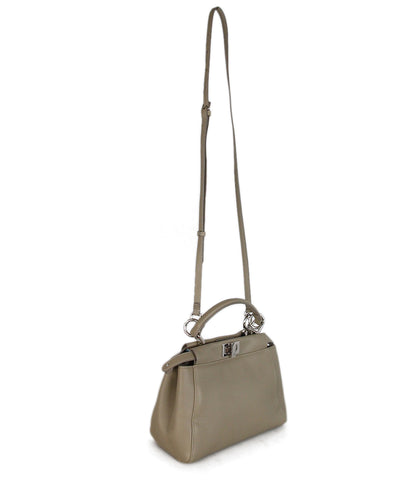 Fendi Neutral Leather Shoulder Bag 1