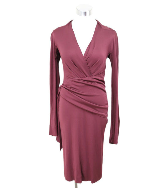 Fendi Burgundy Viscose Dress