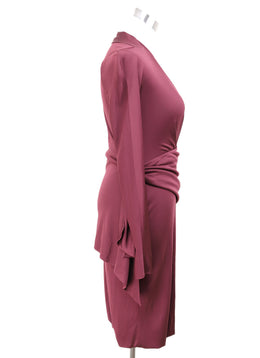 Fendi Burgundy Viscose Dress 1