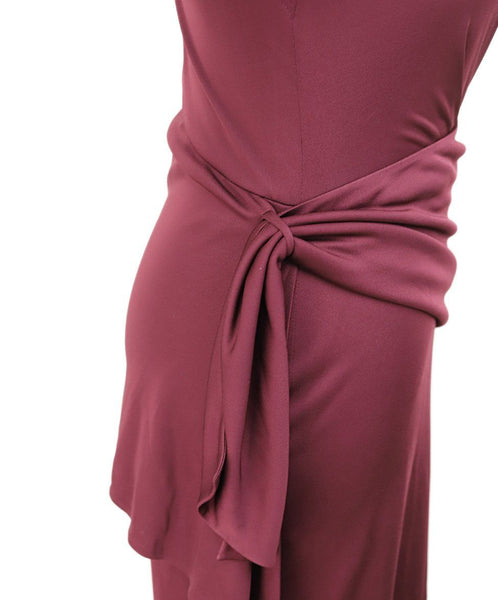 Fendi Burgundy Viscose Dress 4
