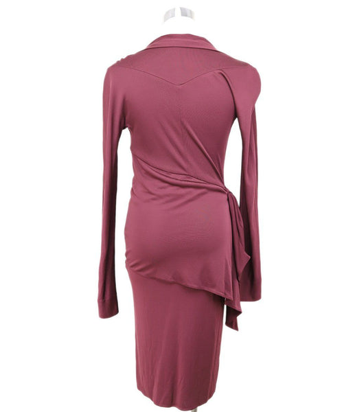 Fendi Burgundy Viscose Dress 2
