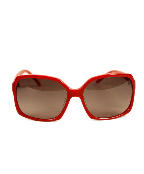Fendi Red Acrylic Sunglasses 1