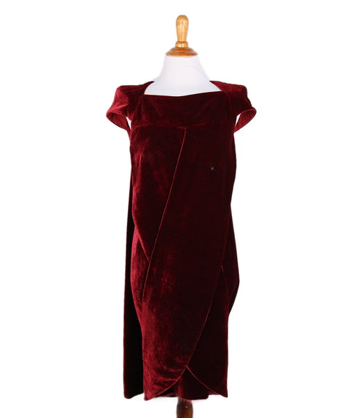 Fendi Red Velvet Dress 1
