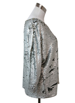 Fendi Silver Gold Sequins Top 2
