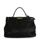 Fendi Peek-A-Boo Black Leather Satchel Handbag 1