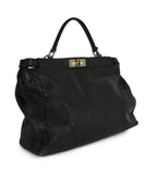 Fendi Peek-A-Boo Black Leather Satchel Handbag 2