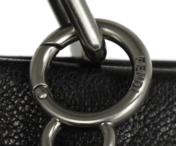 Fendi Peek-A-Boo Black Leather Satchel Handbag 10