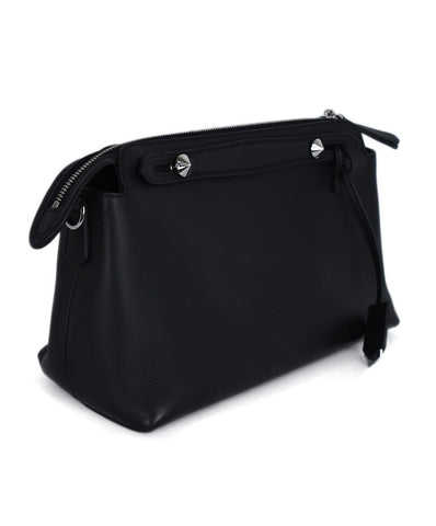 Fendi Black Leather Clutch Handbag 3