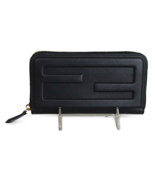Fendi black leather wallet 1