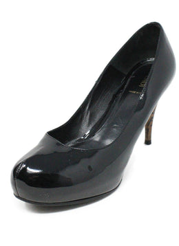 Fendi Black Patent Leather With Monogram Heel Pumps Sz 11