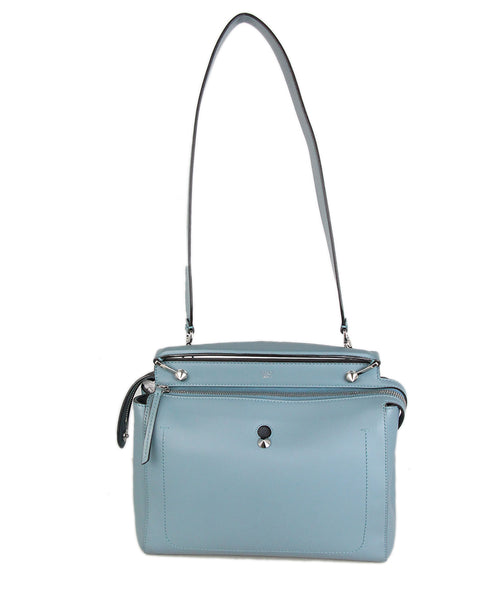 Fendi blue leather handbag 1