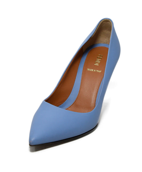 Fendi Blue Leather Heels 1
