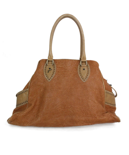 Fendi distressed leather tote 1